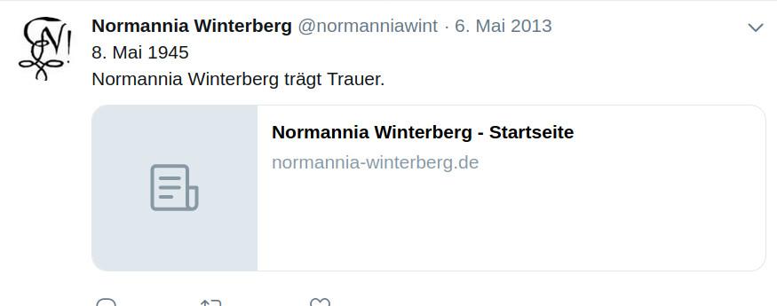 8. Mai - Normannia trägt Trauer [Tweet]